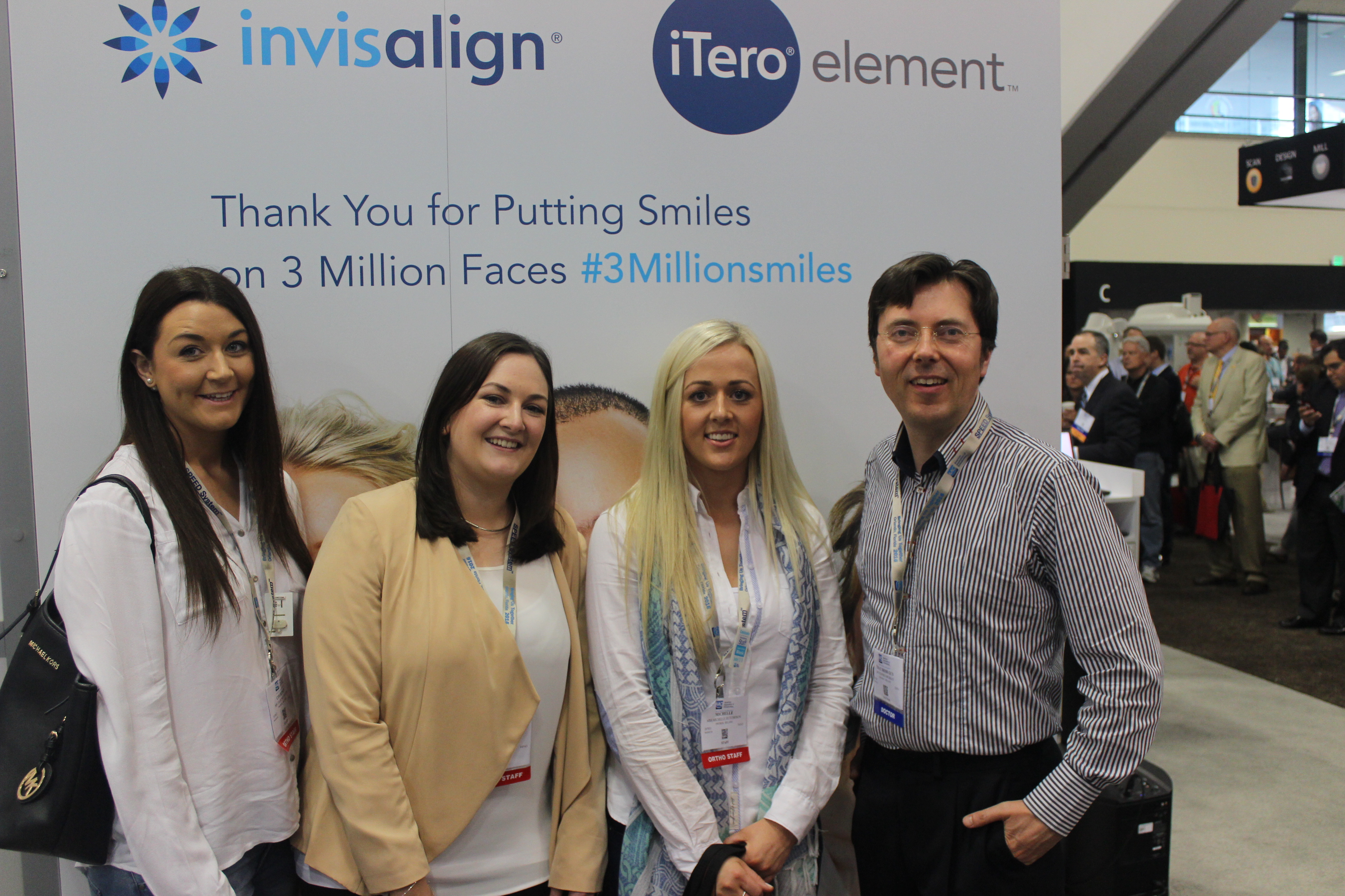 Dr Stephen Murray and the team from Swords Orthodontics get smiling for the American Association of Orthodontists