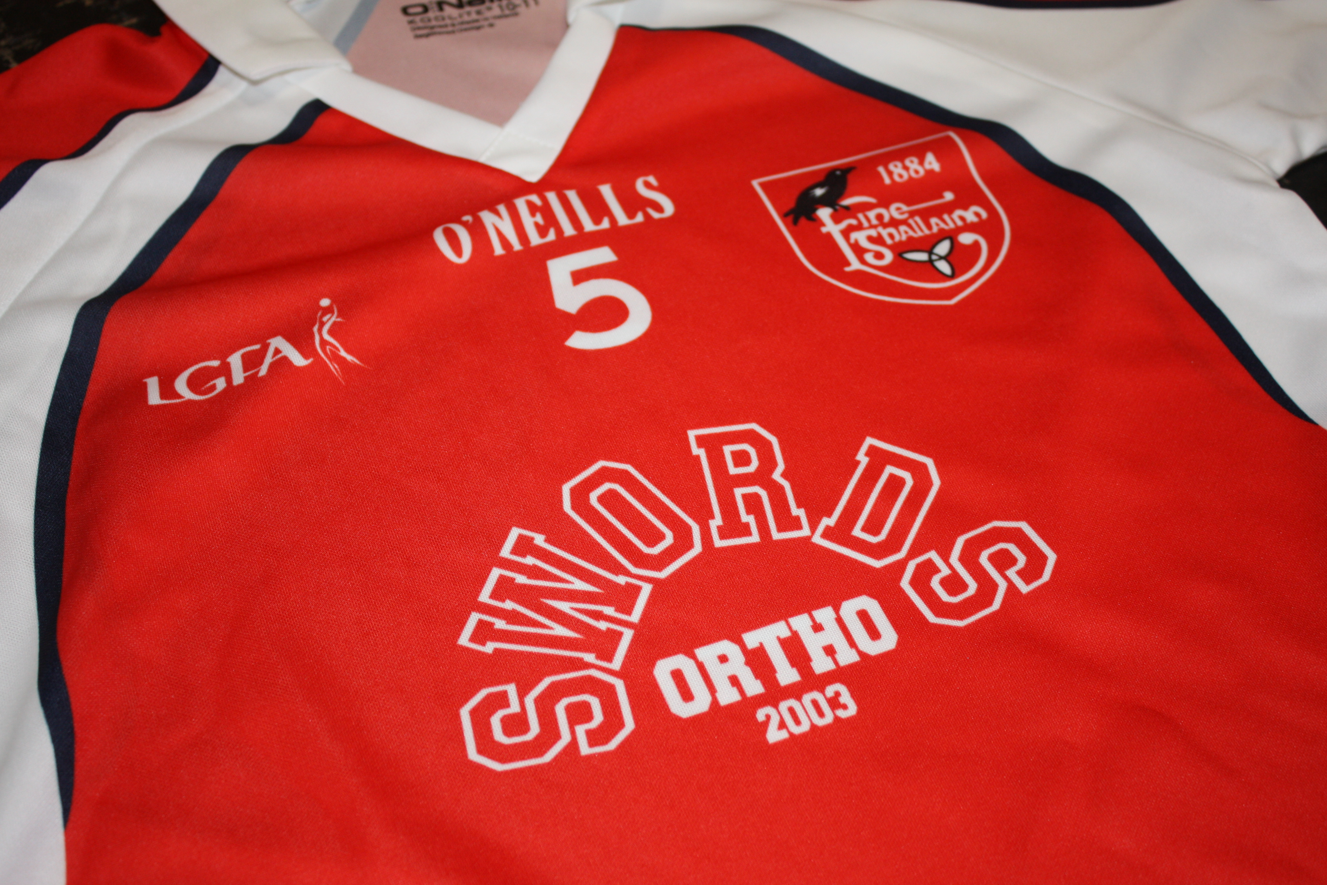 The new Fingallians GAA Under 10s Swords Orthodontics Shirt