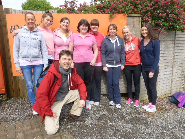 Dr Stephen Murray and the Swords Orthodontics Team with teams from other practices at our first team building day at Xtreme.ie activity centre