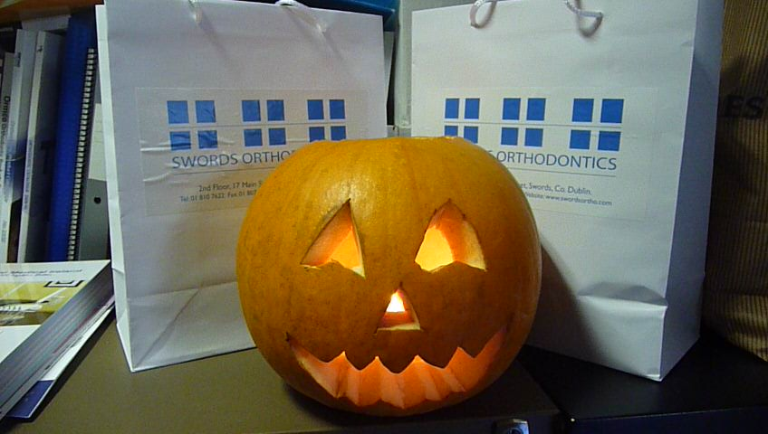 Spooky goings-on at Swords Orthodontics for Hallowe'en