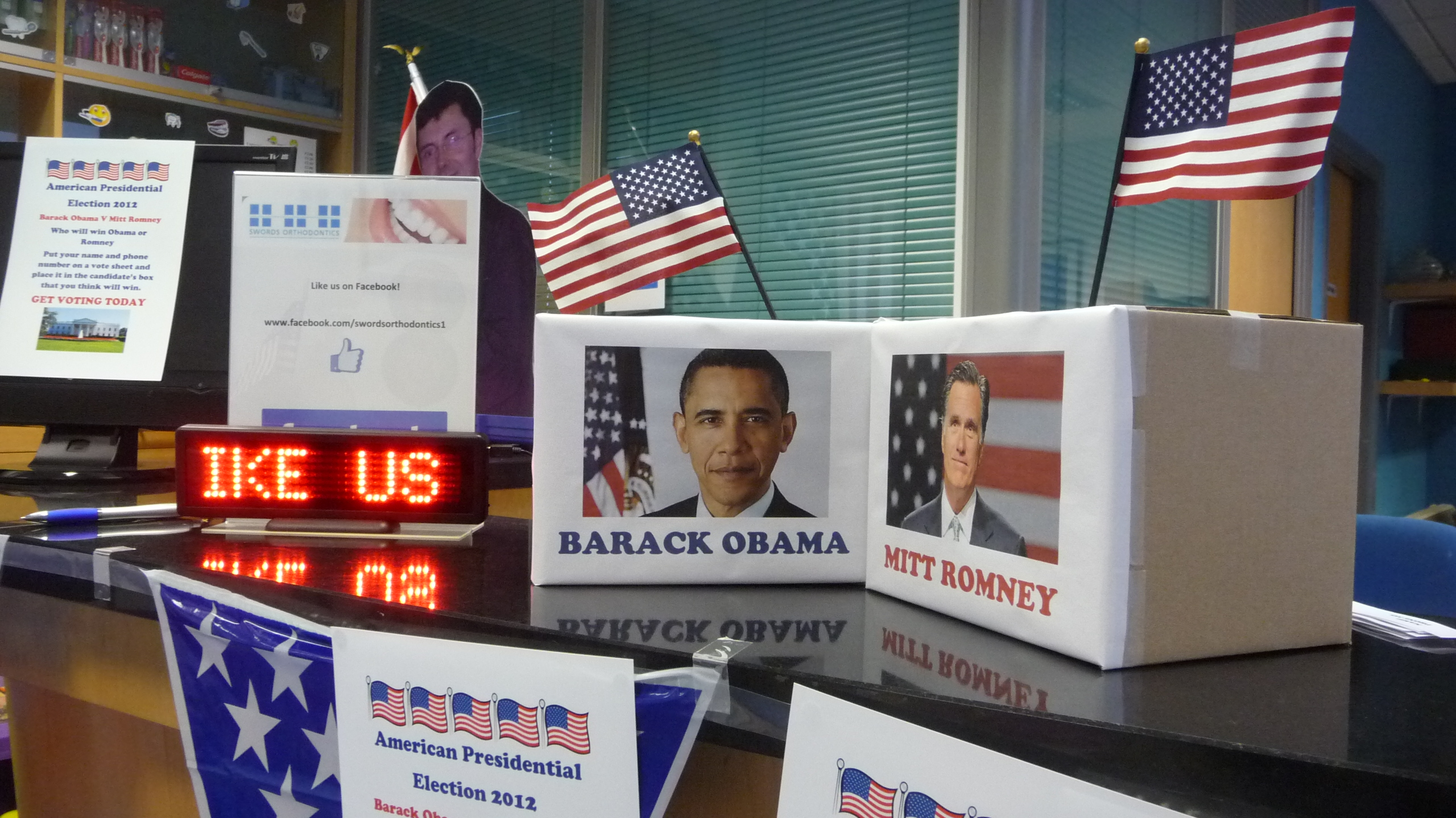 Barack Obama, Mitt Romney and Swords Orthodontics join the race for the White House