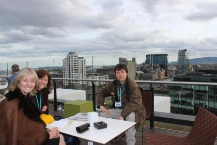 Dr Stephen Murray from Swords Orthodontics on the roof at the Orthodontic Society of Ireland Spring meeting 2014