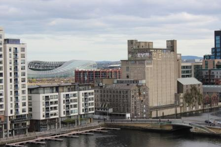 Dublin Skyline viewed by Dr Stephen Murray from Swords Orthodontics after the OSI meeting 2014