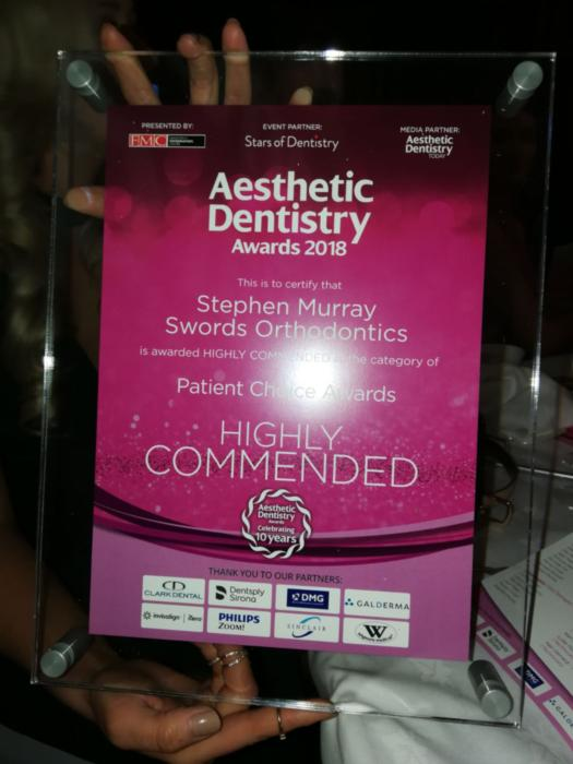 Highly Commended at Aesthetic Dentistry Awards 2018