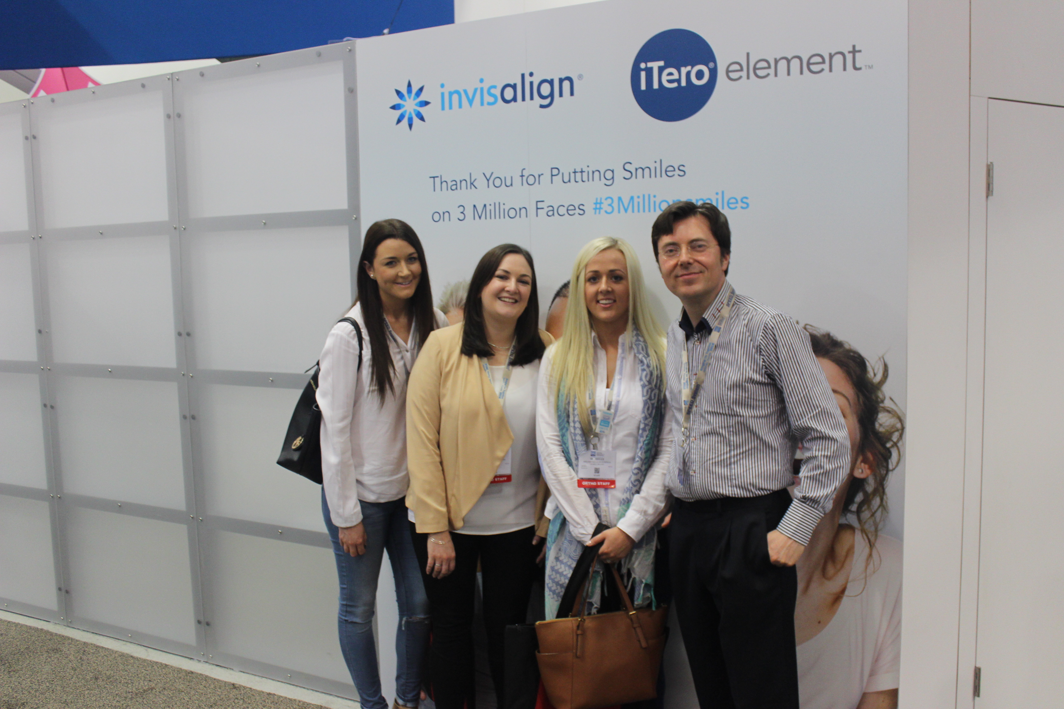 The Swords Orthodontics Team at the Invisalign exhibition at AAO 2015