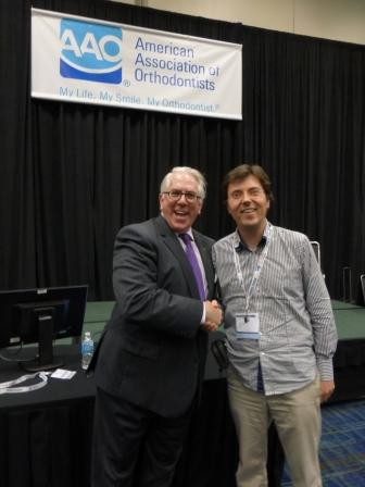 Jeff Hargett and Dr Stephen Murray after Jeff's presentation to the AAO on customer service