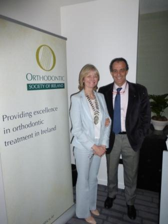 OSI president Katherine Condren and Dr Domingo Martin at the OSI Spring Meeting 2014 at Marker Hotel