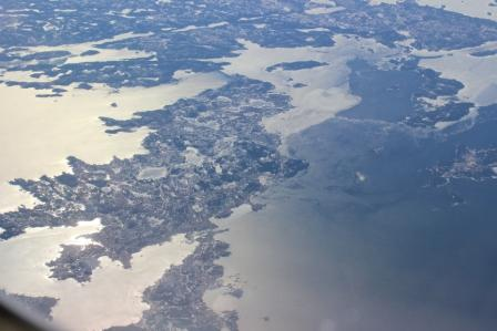 Nova Scotia from above en route to AAO 2014 in New Orleans
