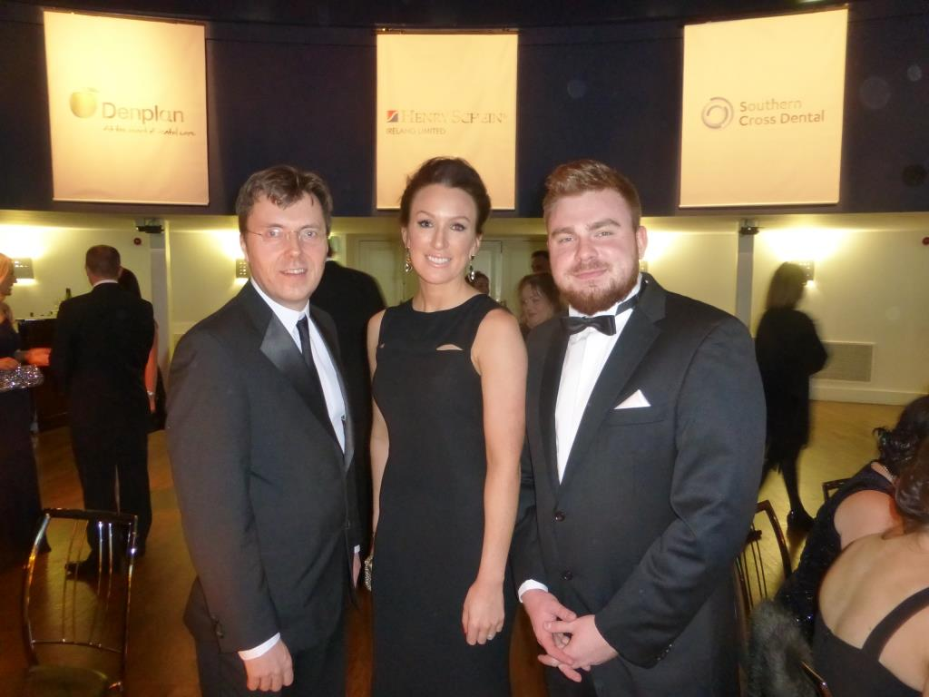Stephen, Marie and Bogdan from Swords Orthodontics at the beginning of the Irish Dentistry Awards Gala