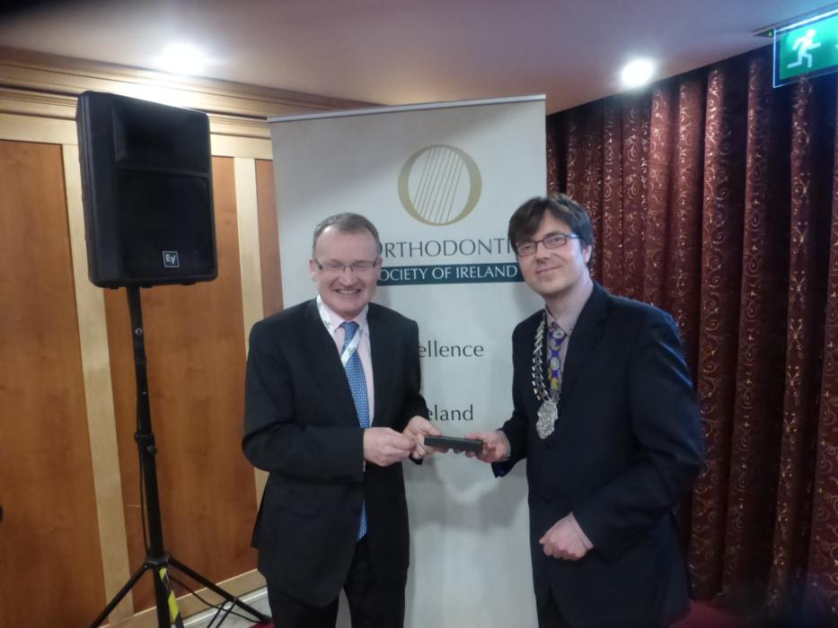 Stephen Murray of Orthodontic Society of Ireland and economist Jim Power