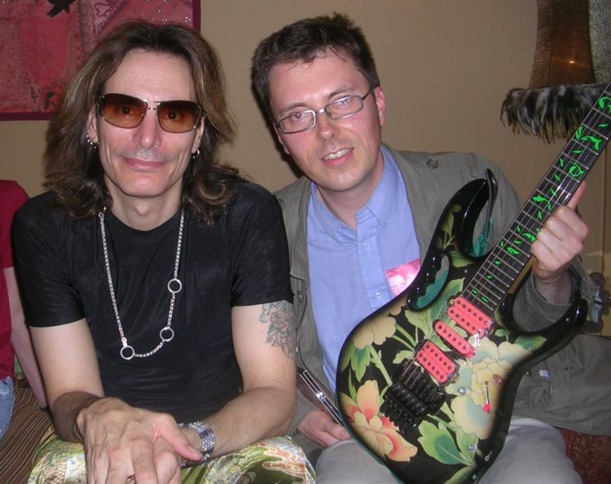 Steve Vai, Steve Murray and a guitar